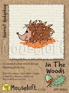 Mouseloft Harriet Hedgehog In The Woods cross stitch kit